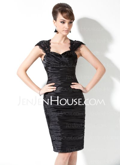 BRIDESMAID DRESS????  28 DIFFERENT COLORS - $132.99 - Sheath Sweetheart Short/Mini Charmeuse Lace Mother of the Bride Dress With Ruffle Beading (008006476) http://jenjenhouse.com/Sheath-Sweetheart-Short-Mini-Charmeuse-Lace-Mother-Of-The-Bride-Dress-With-Ruffle-Beading-008006476-g6476