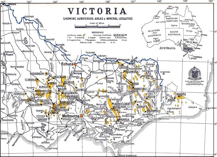 Victorian gold distribution 1937 | metal detecting and cions and