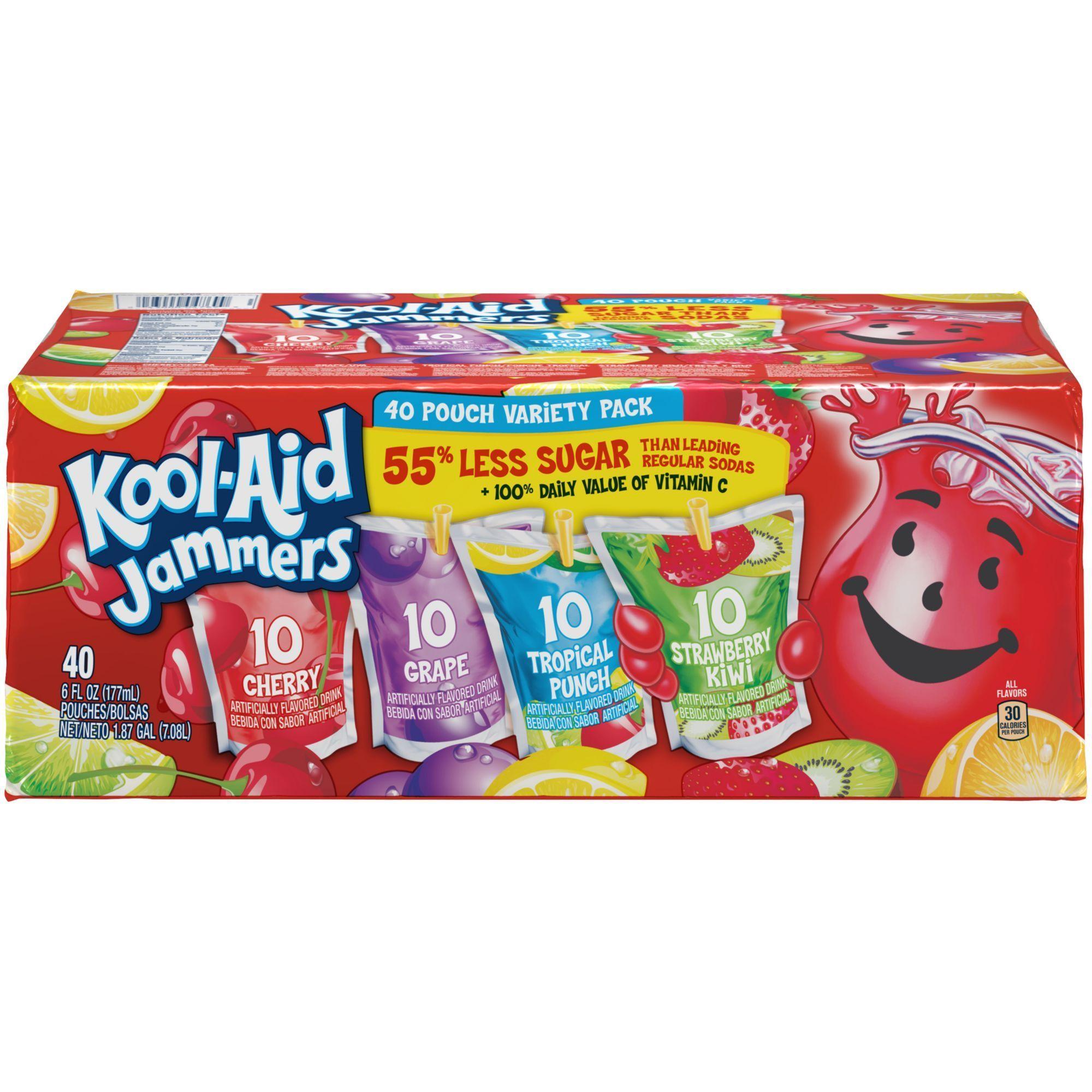 Kool Aid Jammers 40 Pk 6 Oz In 2021 Kool Aid Kool Aid Flavors Tropical Punch