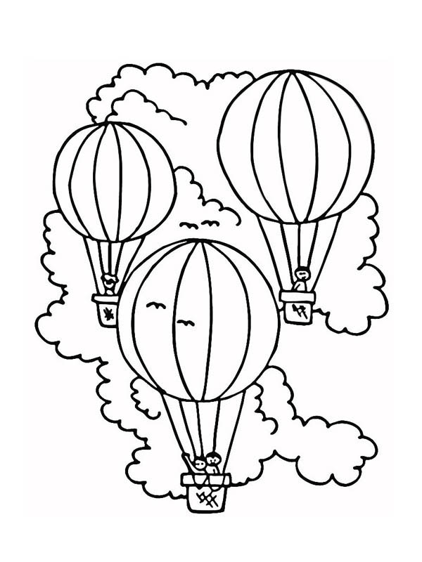 Three Hot Air Balloon Coloring Pages Bulk Color Coloring Pages Free Coloring Pages Free Printable Coloring Pages