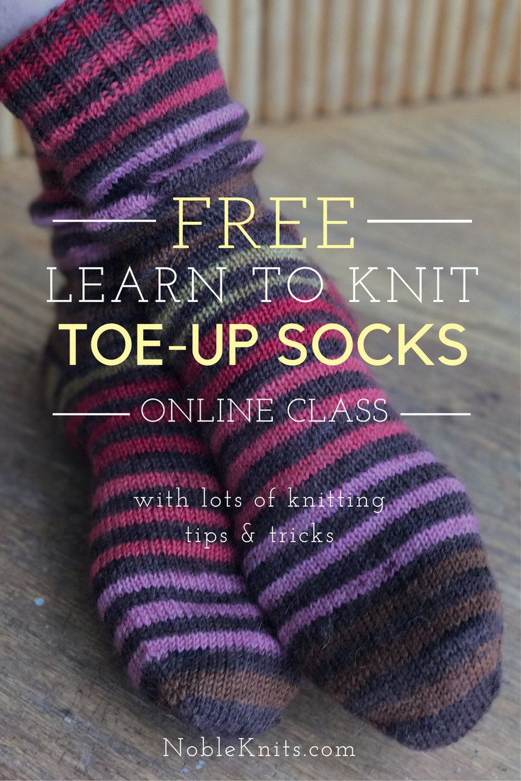 How to Knit Socks from the Toe-Up | Knit socks, Knit patterns and Socks