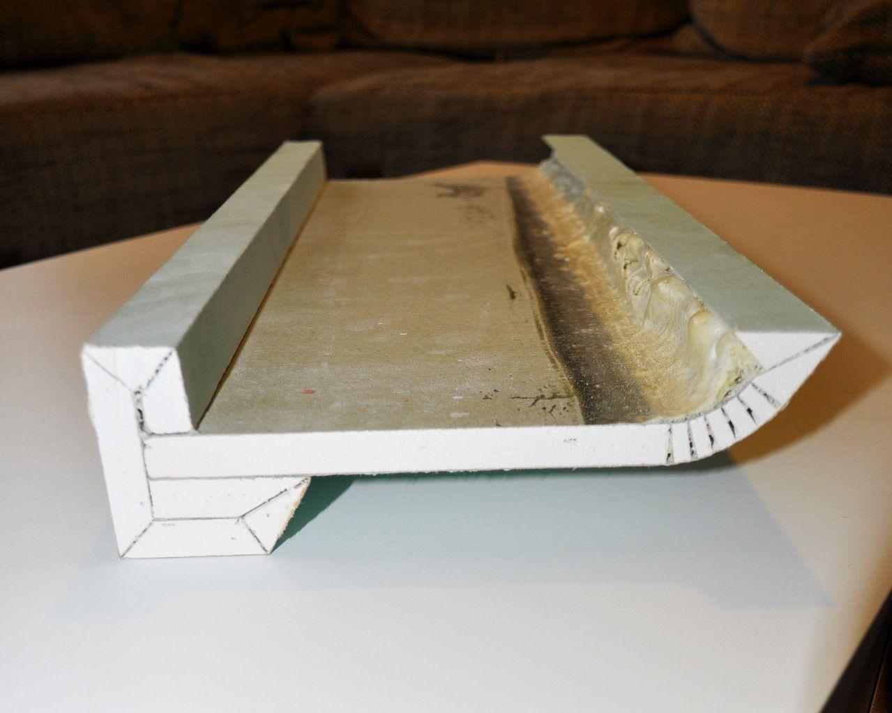 Millimeter Fertigung der Gipskarton Formteile nach Vorgaben. Formen ...
