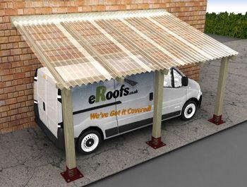 Carport Includes Mini Pvc Roof 2 4m X 4 256m Erperg243648 Pvc Roofing Carport Corrugated Plastic Roofing
