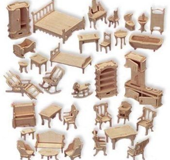 Mini Dollhouse Furniture Wooden Dolls House Furniture