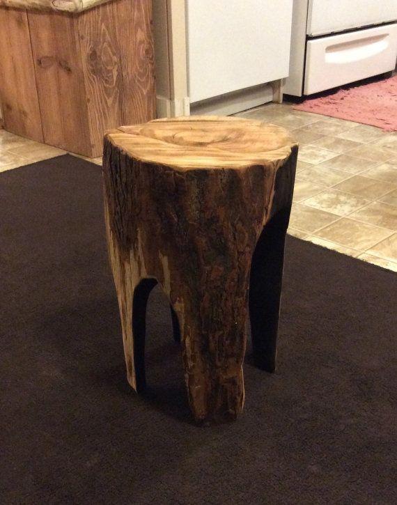 Burnt Stump Stool End Table Unique Stools Charred Wood Stumped