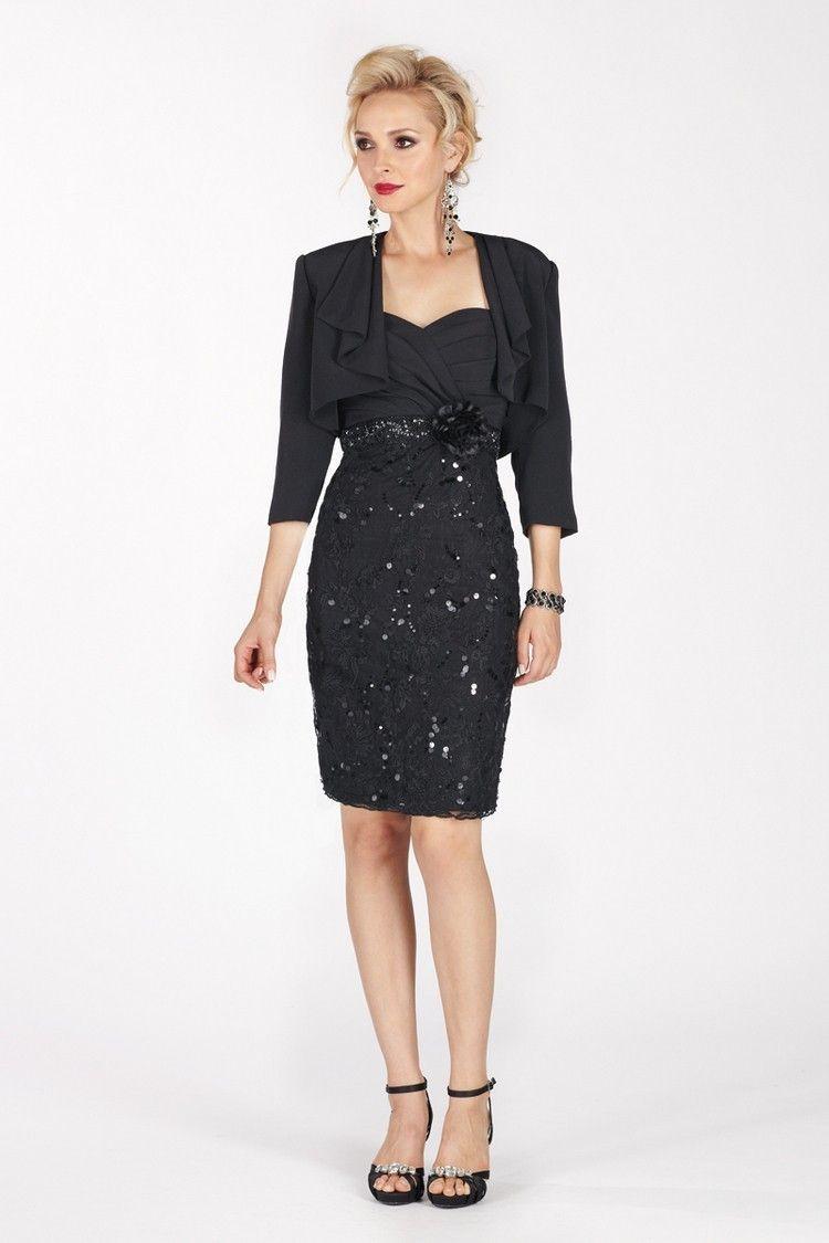 Elegant tri-acetate/lace short knee-length dress $329.99 Mother of Bride Dresses