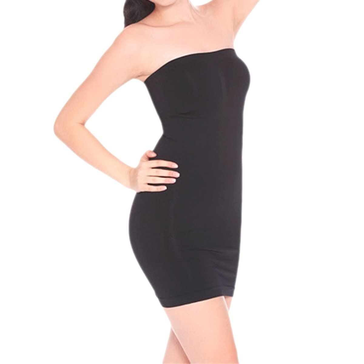 550c37659e42d Defitshape Womens Seamless Shapewear Strapless Smooth Slip Tube Under Dresses  Body Shaper Black US6 10Tag2XL -- Read more reviews of the product by  visiting ...