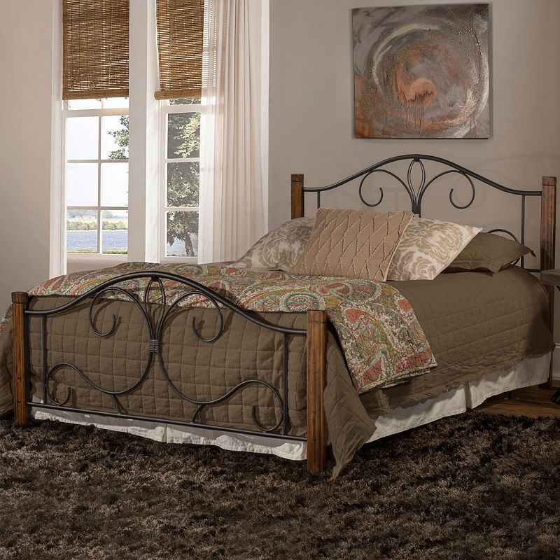 Destin Wood And Metal Bed Wood Bed Set Affordable Bedroom Furniture Hillsdale Furniture