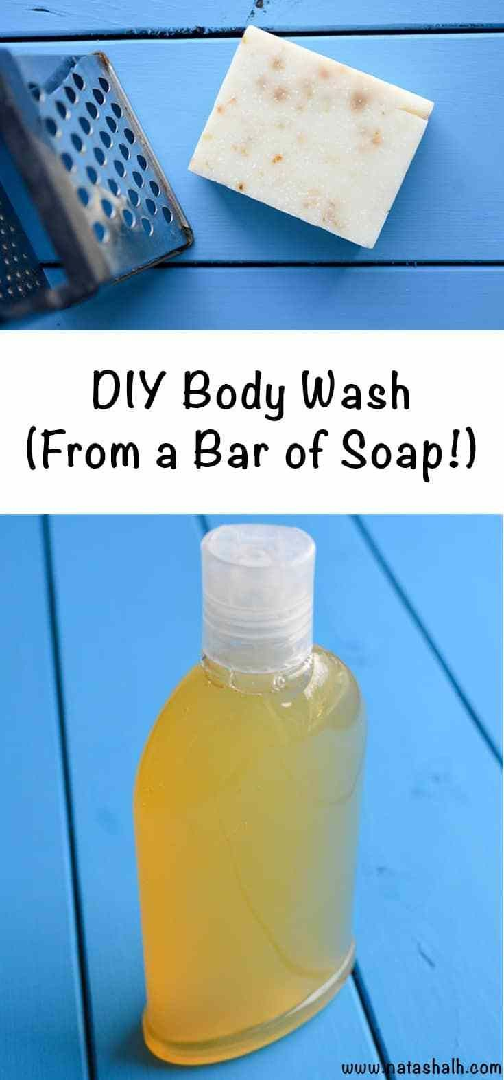 Super Easy Homemade Body Wash from a Bar of Soap is part of Diy body wash, Homemade body wash, Body wash recipe, Homemade soap recipes, Diy body, Making body wash - This beyond easy body wash from a bar of soap recipe shows you how to transform your favorite bar of soap into body wash! Quick, easy, cheap homemade body wash
