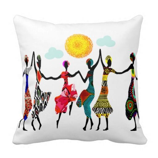 African Praise Dance Pillows