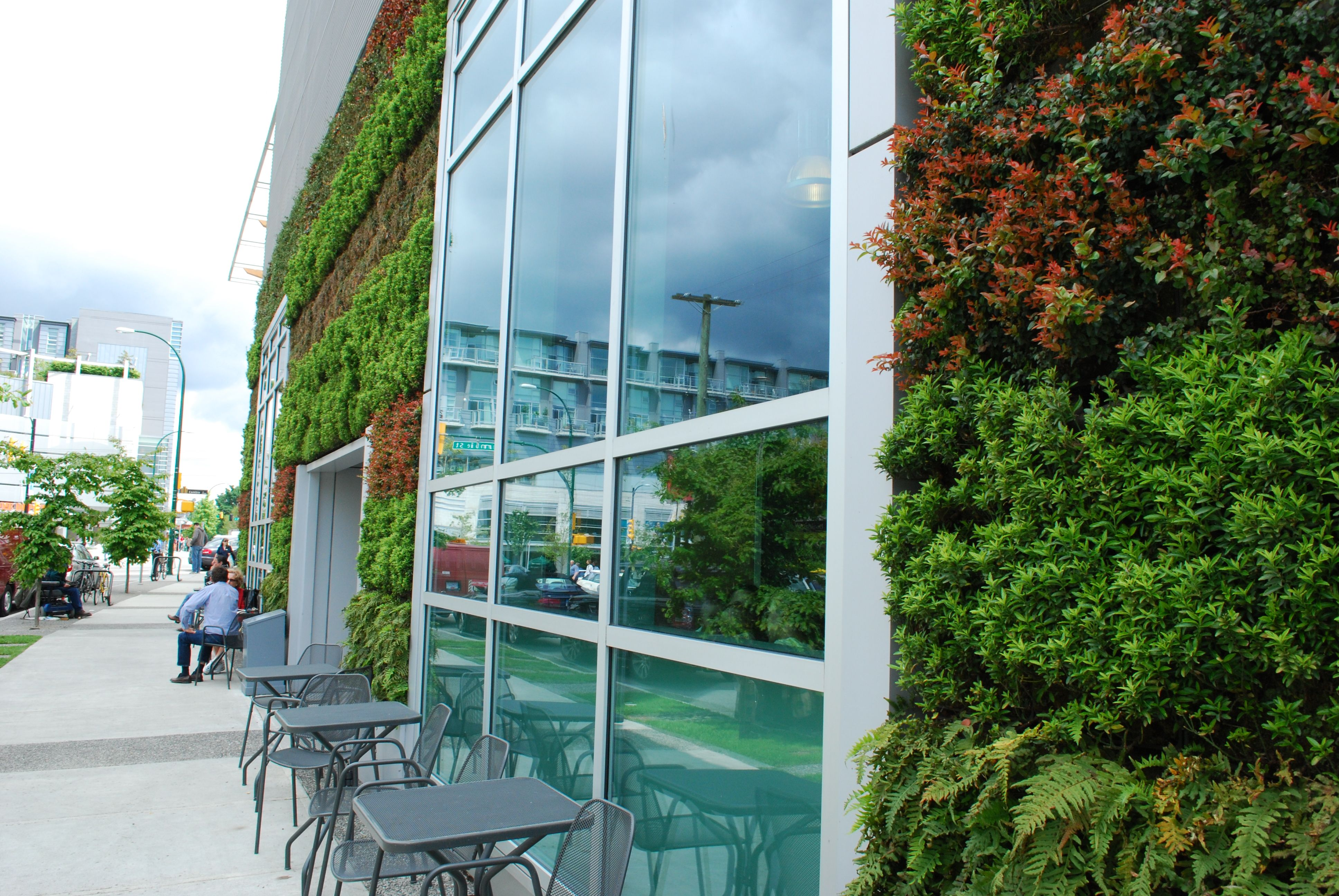 The whole foods cambie store in vancouver features a 2 001 for Green wall vancouver