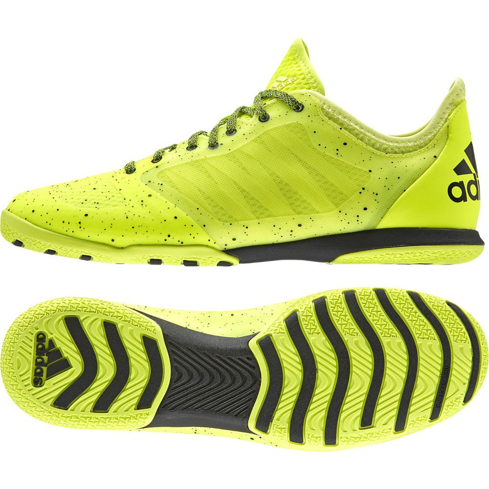 7e958aa1e3 Adidas Men Futsal Shoes Soccer X 15.1 Court Indoor New B27121 Solar Yellow