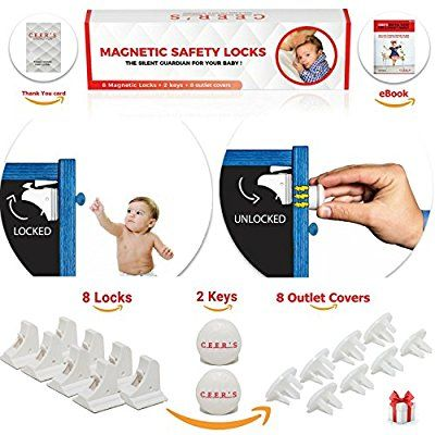 Amazon Com Magnetic Cabinet Locks Child Safety 8 Baby