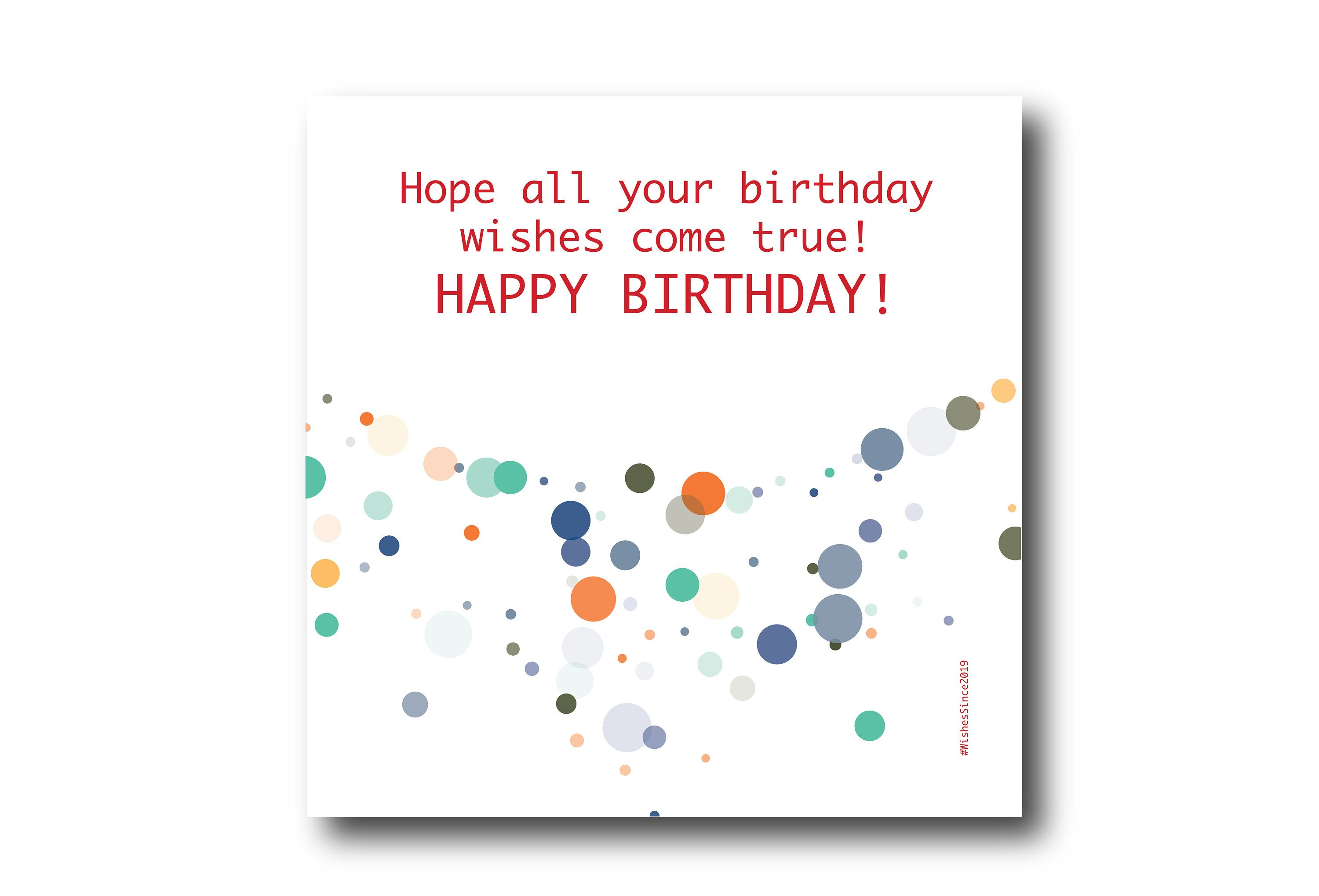 Digital Birthday Card Wishes Instant Download Printable At Etsy Birthday Wishes Greeting Cards Digital Birthday Cards Birthday Wishes Greetings
