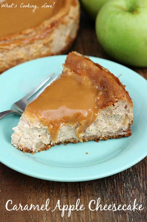 Caramel Apple Cheesecake - Whats Cooking Love?