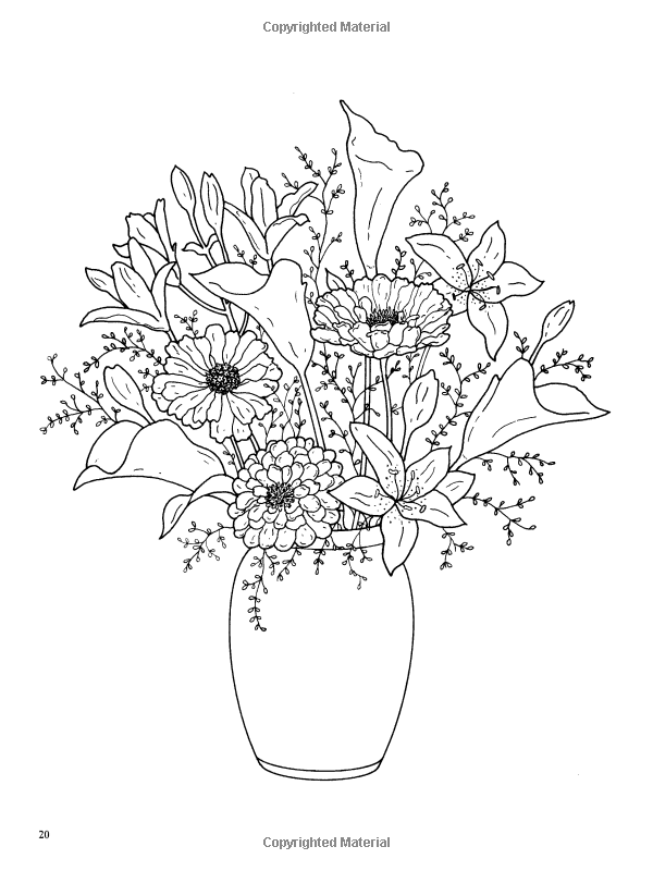 Floral Beauty Coloring Book Dover Nature Coloring Book Charlene Tarbox 9780486459226 Amazon Com Books Flower Coloring Pages Coloring Pages Coloring Books