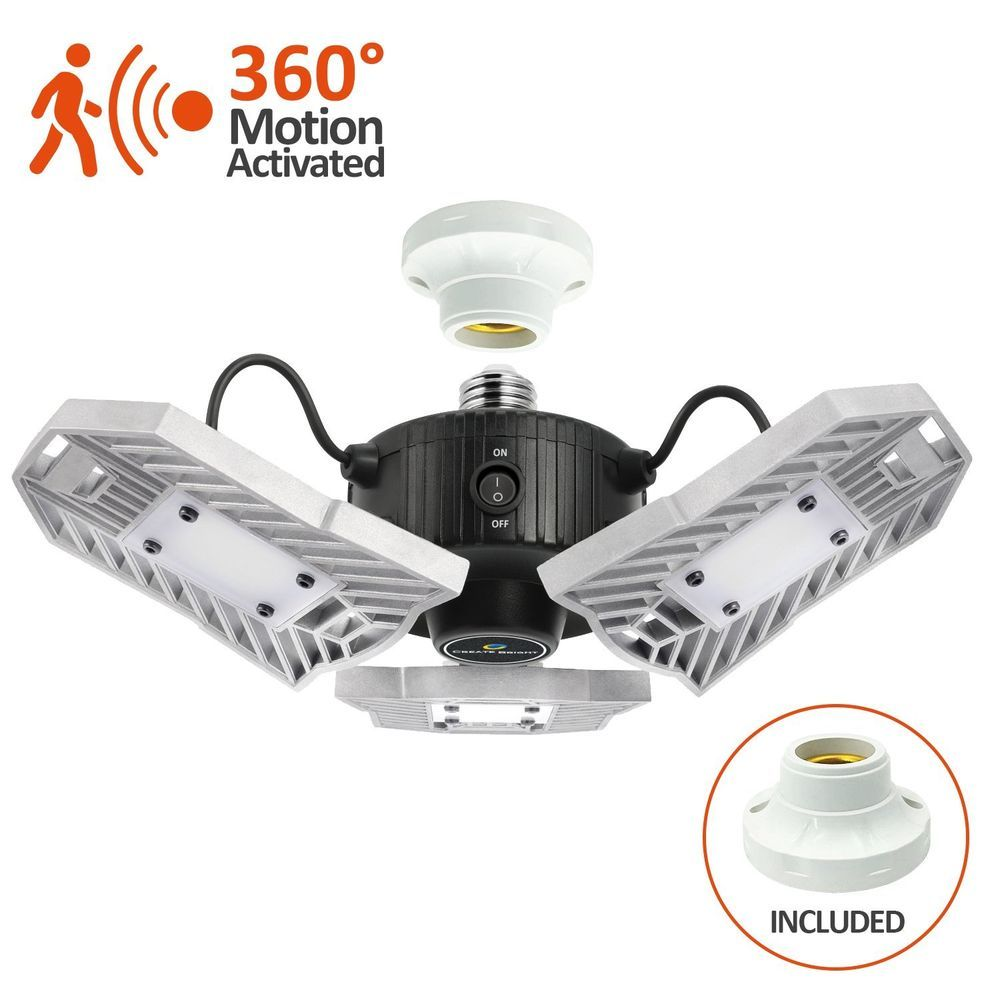 garage motion activated ceiling lot led light 60w