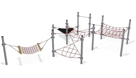 Play Package 10/2 - Climbing Combination with Small Net Structure - COR10150 - Climbing - Playground Equipment - KOMPAN