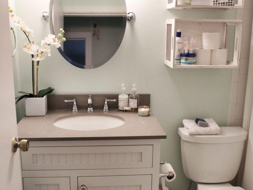 Fliesen ideen um badezimmer eitelkeit  beeindruckende kleine badezimmer organisation ideen bilder ideen