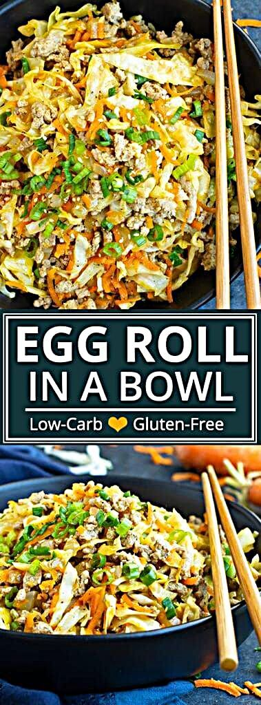 Easy Egg Roll in a Bowl Recipe | This Egg Roll in a Bowl recipe