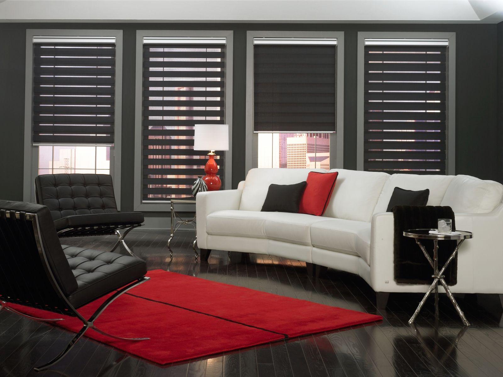 doppelrollos f r das wohnzimmer von rollomeister. Black Bedroom Furniture Sets. Home Design Ideas