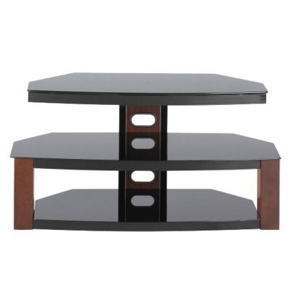 3 in 1 jaguar flat panel tv stand with bracket mount cherry fits tvs up to 55 target. Black Bedroom Furniture Sets. Home Design Ideas