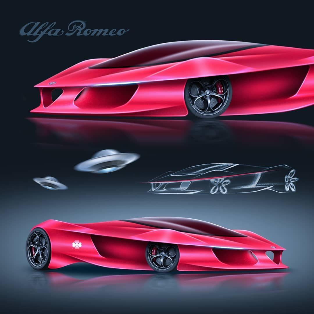 Alien Invasion Cardesign Supercar Designer Alfa Alfaquadrifoglio Alfaromeo Concept Conceptcar Supercar Hypercar Cardesignsketch Cardesignmed