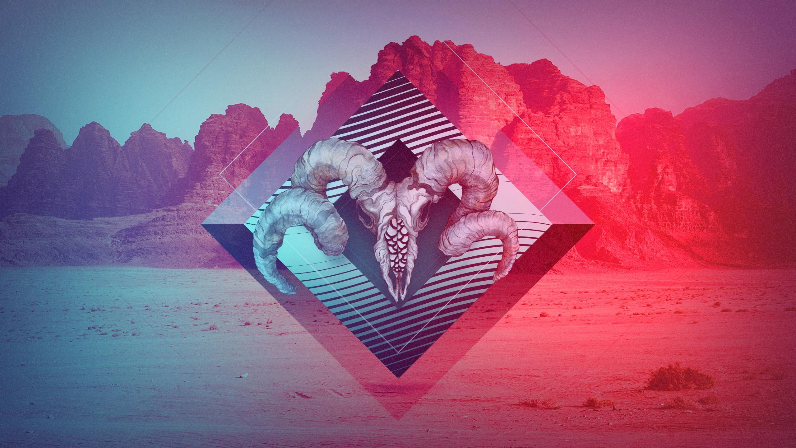 Geometric Abstract Shapes Wallpaper Collage 拼