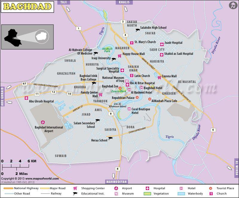 Baghdad City Map City Maps Map City Map