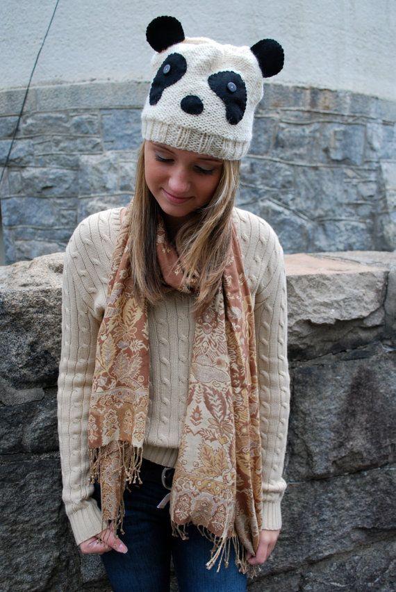 Knit Panda Hat By Agirlnamedleney On Etsy 2500 M Y S H O P