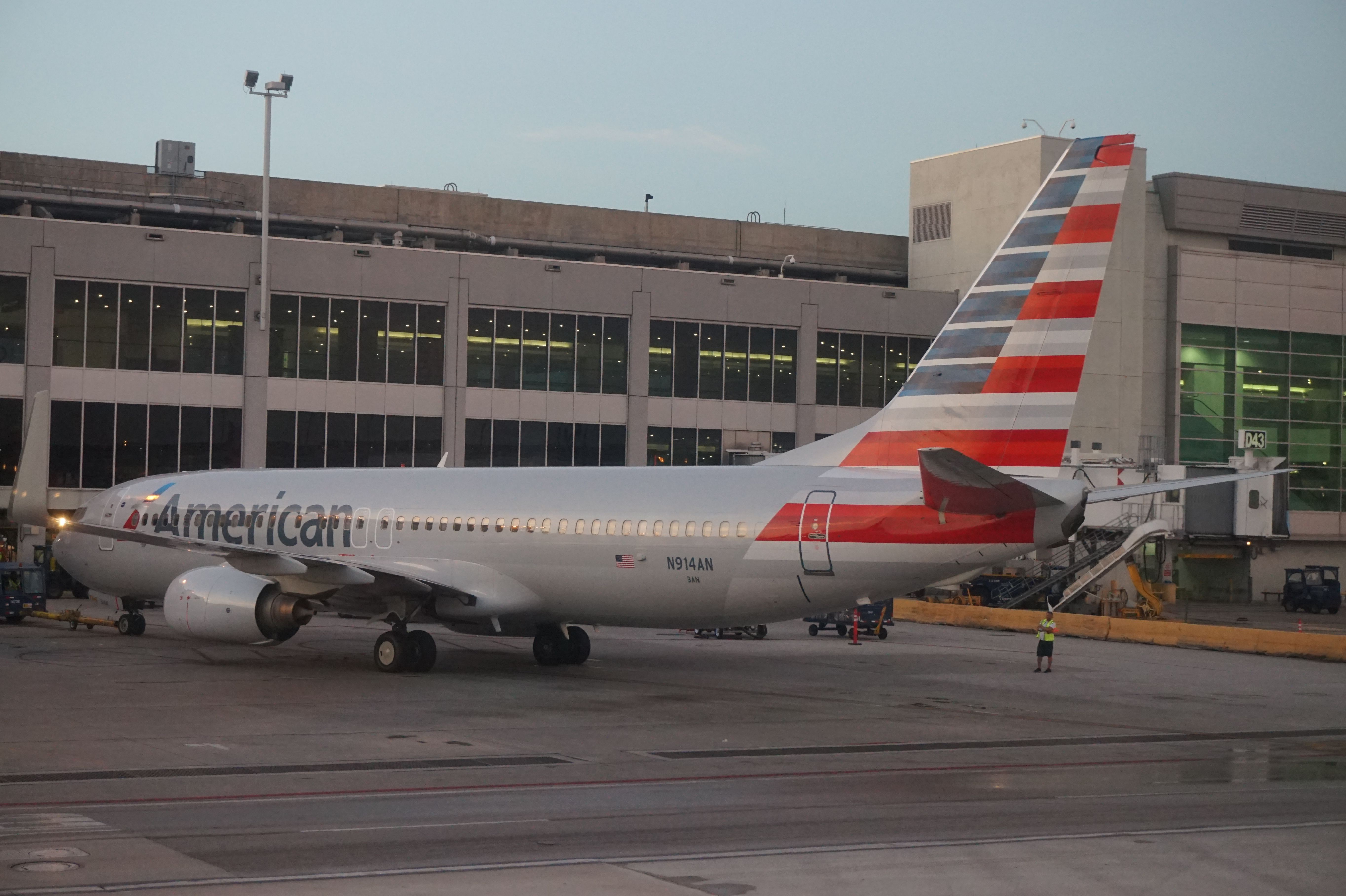 American Airlines B737 at Miami International Airport