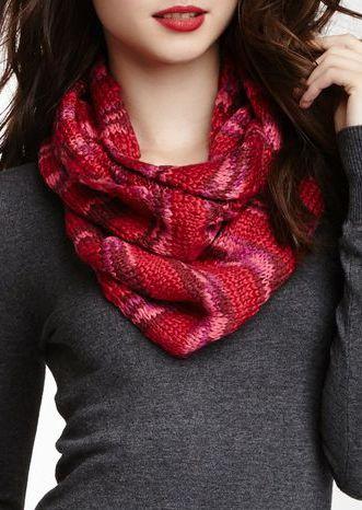 Space Dye Stripe Knit Infinity Scarf | GET IN MA CLOSET. | Pinterest ...