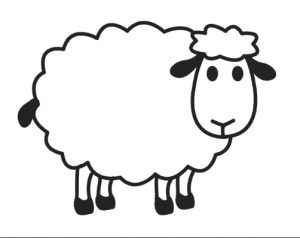 Sheep Coloring Pages For Preschool Preschool And Kindergarten Sheep Cartoon Sheep Drawing Sheep Crafts