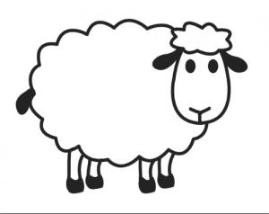 Sheep Coloring Pages For Preschool Preschool And Kindergarten Sheep Drawing Sheep Cartoon Sheep Crafts