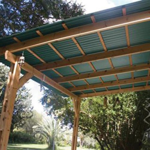 Pvclite plus 26 x 8 39 red foamed pvc corrugated patio - Plaque polycarbonate transparente ...