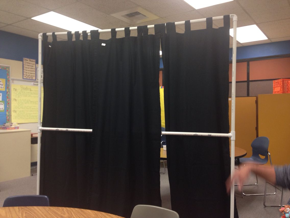 classroom divider pvc pipe and curtains school ideas