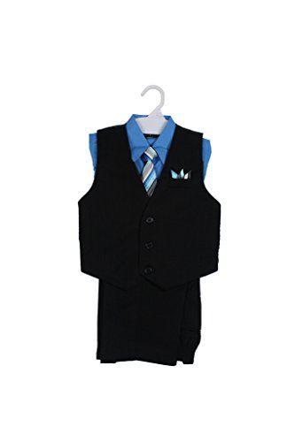 7d2c9eb63 Paperio Boys Vest Pinstripe Set with Stripe Long Tie Shirt Pants ...
