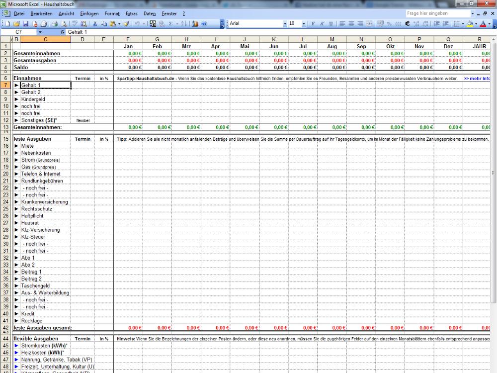 Excel Haushaltsbuch 2 020 Deutsch Das Excel Haushaltsbuch Von Spartipp Behalt Den Uber In 2020 Haushaltsbuch Vorlage Haushaltsbuch Excel Haushaltsbuch Excel Vorlage