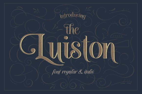 The luiston family off creativework fonts fonts styles
