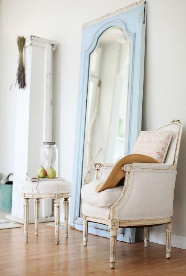 Shabby Chic Wohnzimmer Wohnideen Spiegel lang Spiegel Pinterest