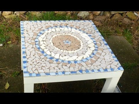 diy mosaiktisch aus fliesenresten mandala ooffenbar youtube mosaic ideas pinterest. Black Bedroom Furniture Sets. Home Design Ideas