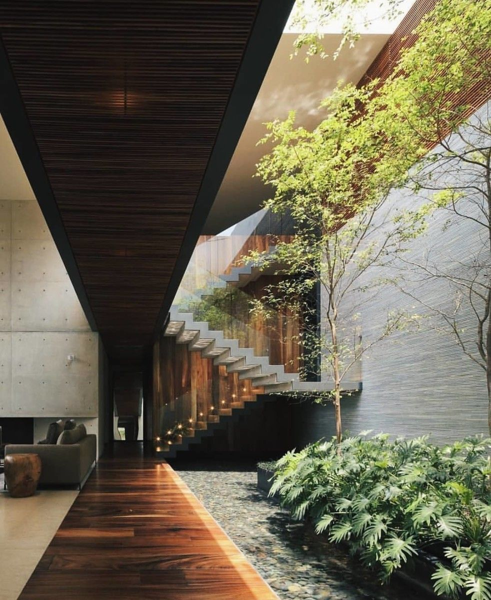 33 Staircase Designs Enriching Modern Interiors With: Cool 12 Modern Houses With Interior Courtyards Http