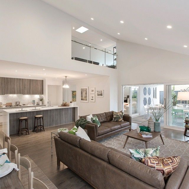 Downlights through lounge and dining | Flooring & Wall ...