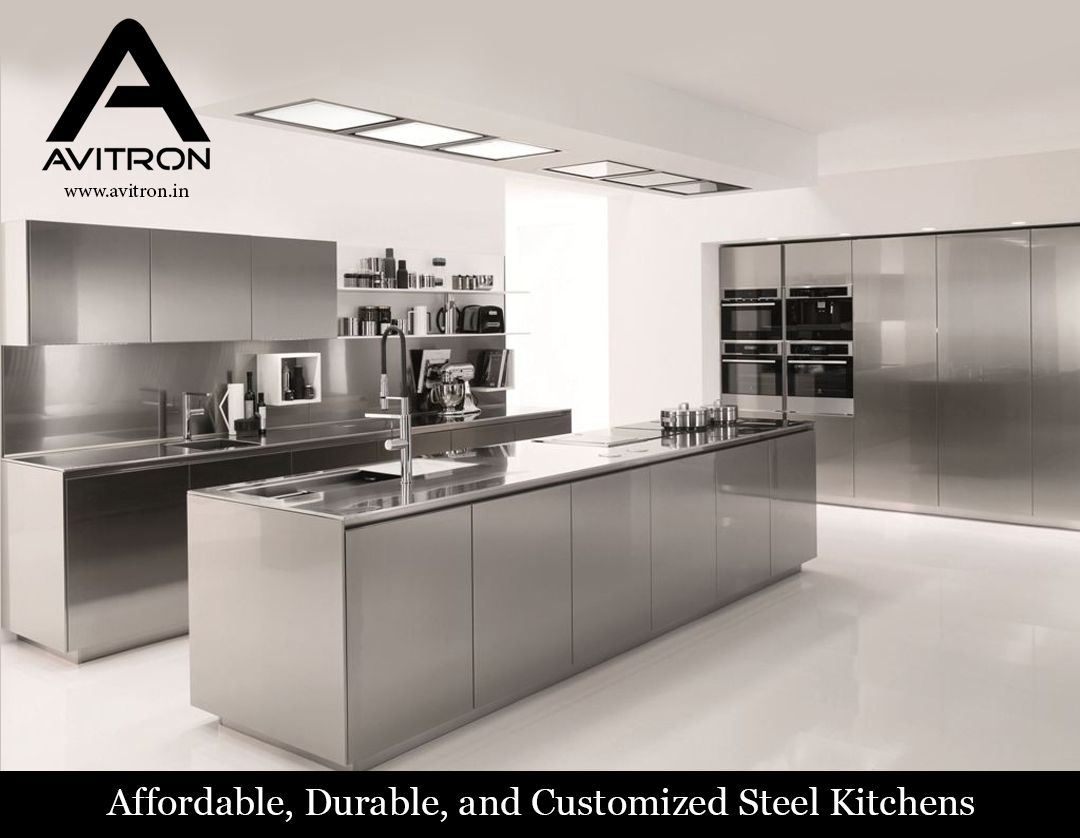Avitron Is A Leading Supplier Of Affordable Durable And Customized Ste Stainless Steel Kitchen Cabinets Steel Kitchen Cabinets Stainless Steel Kitchen Design