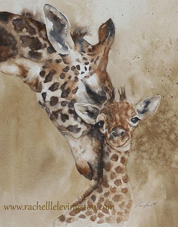 Pour Lui Pour Le Papa Girafe De Decor Dorm Peinture Girafe D