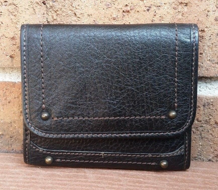 22.00$  Watch here - http://vinar.justgood.pw/vig/item.php?t=1g90j8g36920 - Banana Republic BR Collection Black Leather Trifold Organizer Wallet 22.00$