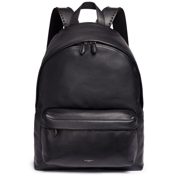 Givenchy 'Ci' stud leather backpack (19,400 EGP) ❤ liked on ...