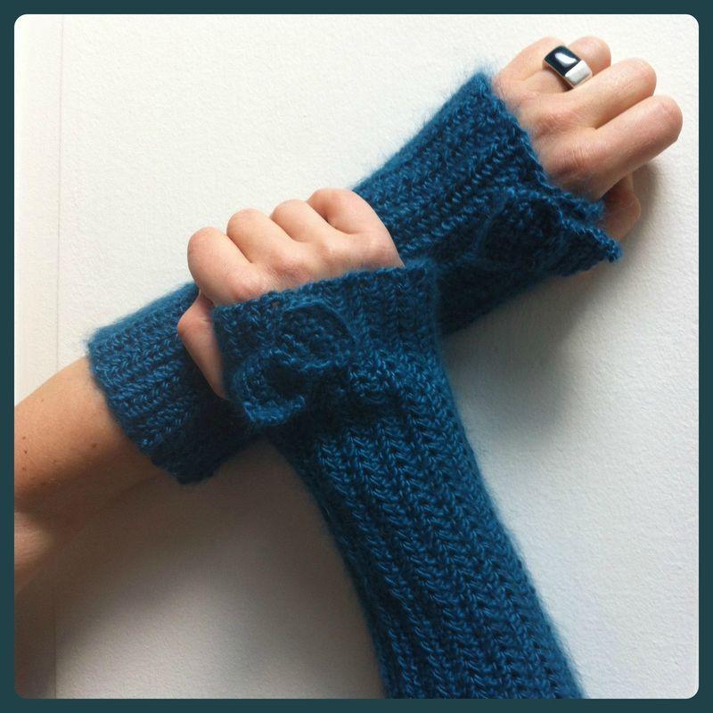 Mitaines crochetées en   Mitaines tricot, Mitaines en crochet et Tricot et crochet