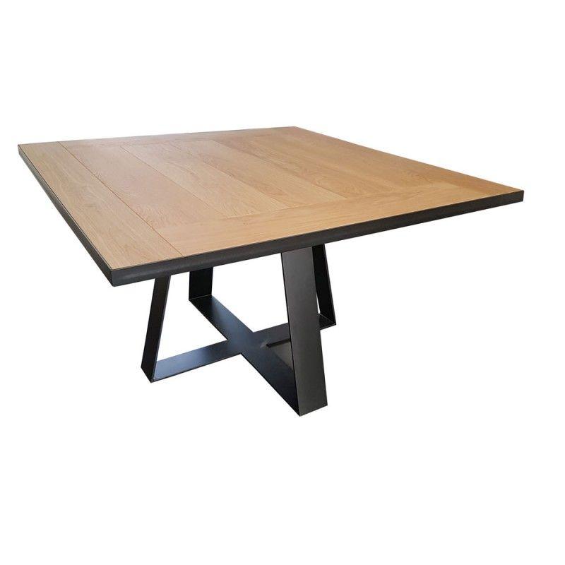 table de salle à manger design carrée tolbiac à rallonges dont le