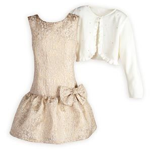 Gold Beauty Girl's Special Occasion Dress